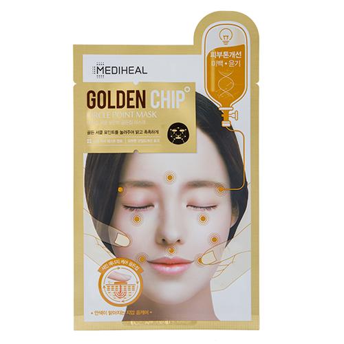 Маска для лица MEDIHEAL CIRCLE POINT MASK GOLDEN CHIP для сияния кожи с массажным эффектом 25 мл