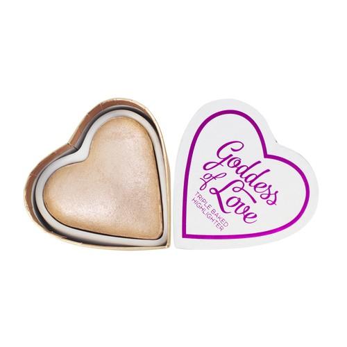 Хайлайтер для лица `I HEART REVOLUTION` BLUSHING HEARTS тон goddess of love highlighter