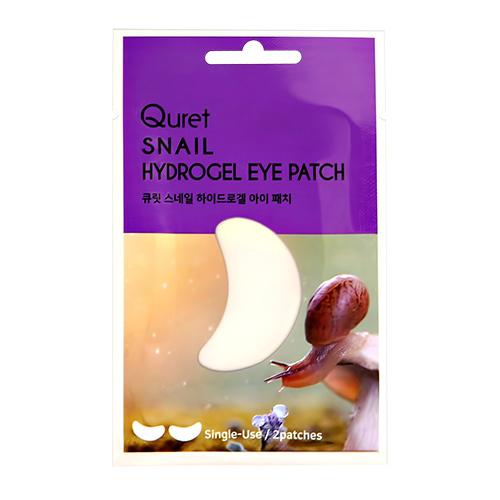 Патчи для глаз QURET гидрогелевые с экстрактом секрета улитки 2 шт