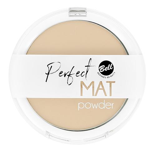 Пудра компактная для лица BELL PERFECT MAT POWDER тон 04 фиксирующая, матирующая