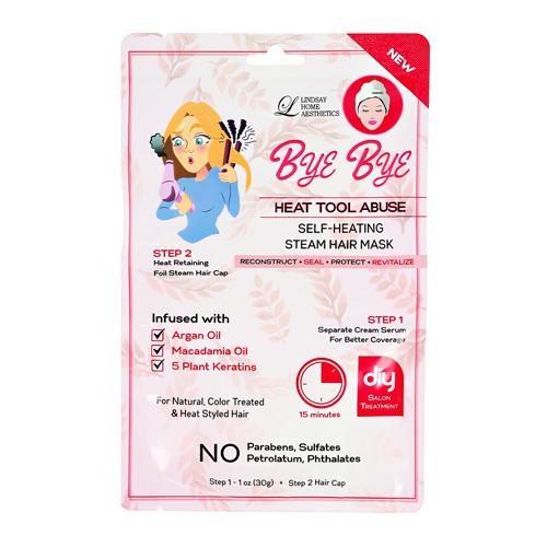 2-Ступенчатая система ухода за волосами LINDSAY BYE BYE для поврежденных волос сыворотка шапочка 30г + 1шт.