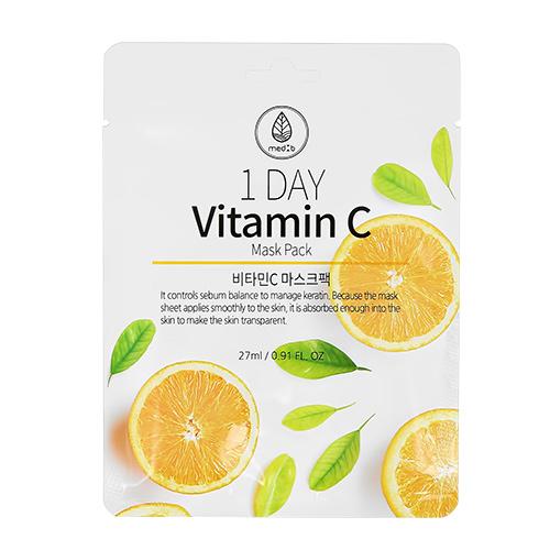 Маска для лица MED B 1 DAY с витамином C для сияния кожи 27 мл