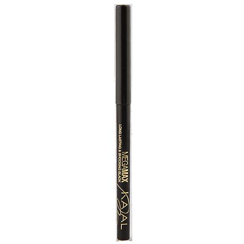 Карандаш для глаз `EVELINE` KAJAL MEGA MAX черный автоматическийКарандаши<br>LONG LASTING &amp; SHOCKING BLACK MEGAMAX KAJAL<br>