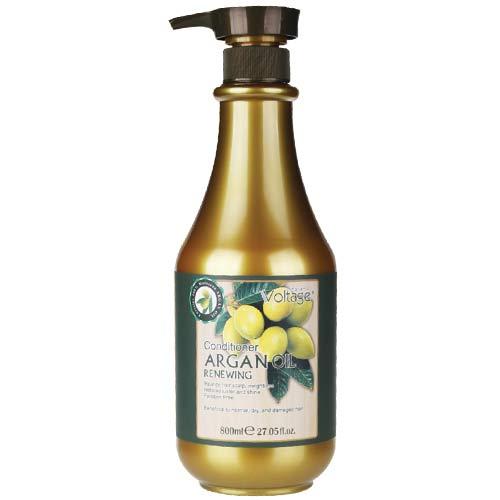 Кондиционер для волос `KHARISMA VOLTAGE` ARGAN OIL восстанавливающий с маслом арганы 800 мл            а/п AR002Бальзамы и ополаскиватели<br>Невесомое аргановое масло бережно восстанавливает здоровый блеск и мягкость волос. Эффективное сочетание активных ингредиентов кондиционера обеспечивает непревзойденный уход за волосами (в том числе и за окрашенными) без утяжеления. Для нормальных, сухих и поврежденных волос.<br>