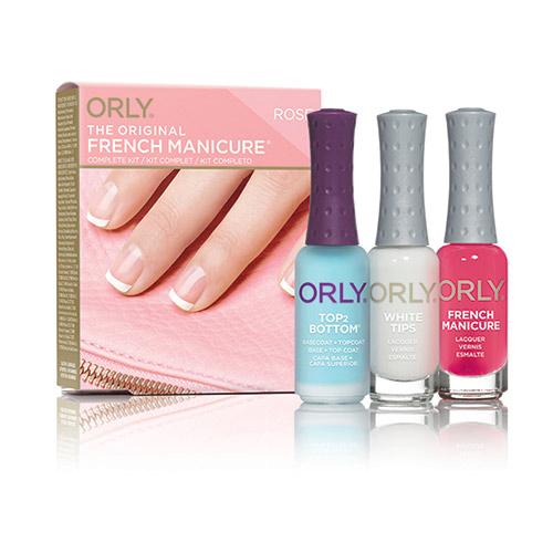 Купить Набор лаков для французского маникюра ORLY тон 016 ярко-розовый лак, базовое и верхнее покрытие, белый лак, США/ USA