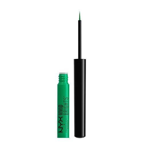 Подводка для глаз `NYX PROFESSIONAL MAKEUP` VIVID BRIGHTS тон 07 ENVIE цветная жидкаяПодводки<br>Жидкая цветная подводка с тонкой кистью. Подводка отличается яркими, насыщенными цветами. Отличный вариант для креативного макияжа глаз! Подводка быстро фиксируется, превосходно держится и не оставляет отпечатков. Тонкая кисть идеальна для проработки ресничного контура или для создания изящной стрелки.<br>