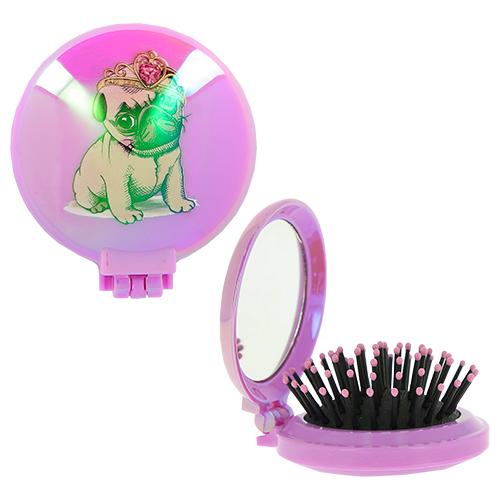 Купить Расческа для волос LADY PINK FUN с зеркалом фиолетовая, КИТАЙ/ CHINA