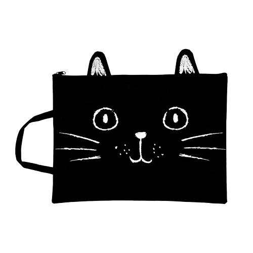 Сумка для документов LADY PINK Черная кошка