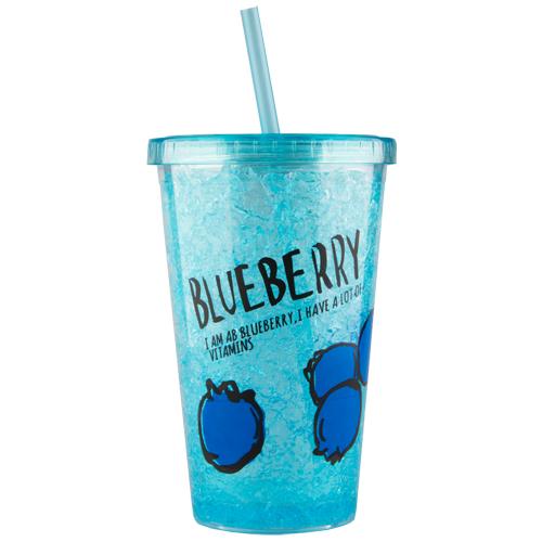 Купить Стакан для воды FUN с трубочкой Ice grape 480 мл, КИТАЙ/ CHINA
