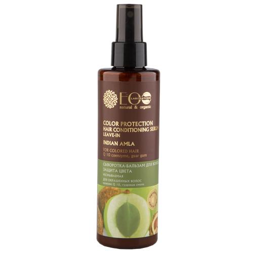 Сыворотка-бальзам для волос `EO LABORATORIE` Защита цвета (несмываемая) 200 млБальзамы и ополаскиватели<br>Средство для специального восстанавливающего ухода. Сыворотка удобна в применении и позволяет за несколько минут преобразить волосы. <br>Экстракт амлы укрепляет волосы по всей длине, улучшает текстуру волос, усиливает и сохраняет цвет волос, улучшает питание волосяных фолликулов, благодаря чему улучшается рост волос.  <br>Коэнзим Q 10 улучшает состояние волос, помогает поддержать баланс влаги, делает их более эластичными, усиливает блеск окрашенных волос.  <br>Гуаровая смола помогает сохранить интенсивность цвета, делает их более послушными и податливыми для укладки. <br>Не утяжеляет волосы.<br>