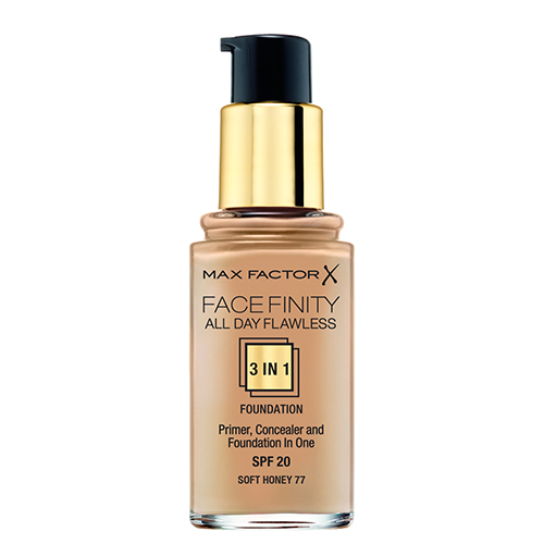 Основа тональная для лица `MAX FACTOR` FACEFINITY ALL DAY FLAWLESS 3 в 1 тон 77