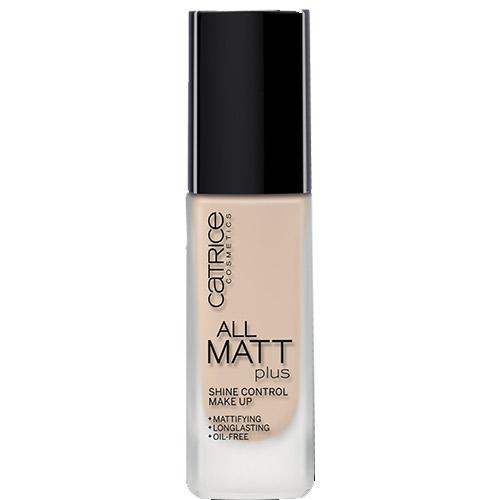 Основа тональная для лица `CATRICE` ALL MATT PLUS матирующая тон 010 (light beige)Тональные средства<br>Неотъемлемым элементом идеального макияжа в этом сезоне является идеальный матовый тон лица. Тональный крем All Matt Plus Shine Control Make Up контролирует появление нежелательного блеска в течение<br>всего дня! Шелковистая текстура, мельчайшие светоотражающие<br>пигменты, а также отсутствие в составе продукта масел, позволяют<br>тональному крему не только качественно скрыть недостатки на коже,<br>но придать ей невероятную гладкость, сияние, бархатистый матовый<br>финиш без эффекта маски. Продукт одобрен дерматологами.<br>