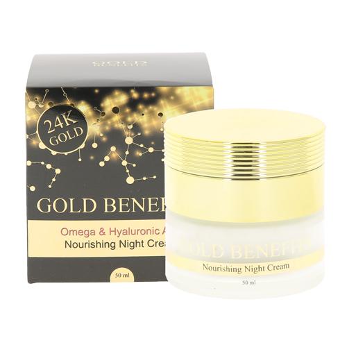 Купить Крем для лица ночной SEA OF SPA GOLD BENEFITS с гиалуроновой кислотой 50 мл, ИЗРАИЛЬ/ ISRAEL