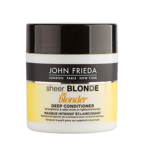Маска для волос `JOHN FRIEDA` `SHEER BLONDE` осветляющая 150 млМаски<br>Укрепляет хрупкие пряди и усиливает их блеск, создает блонд, сверкающий солнечными бликами.<br>