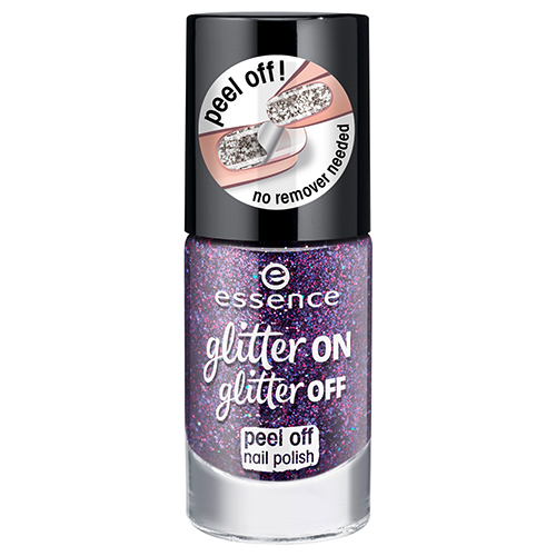 Лак для ногтей `ESSENCE` GLITTER ON GLITTER OFF тон 04 8 мл