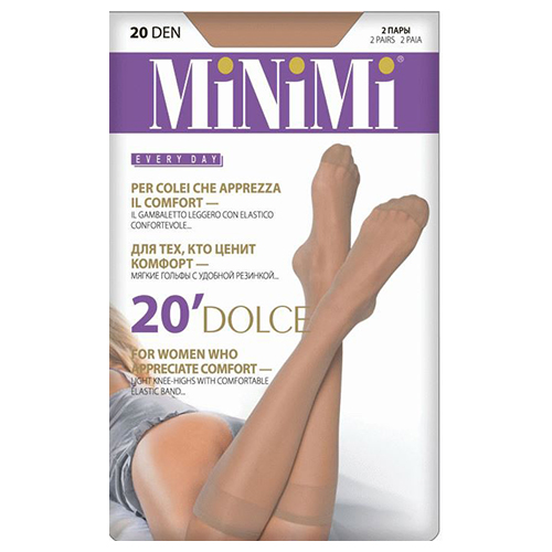 Гольфы женские MINIMI DOLCE 20 den Caramello 2 пары