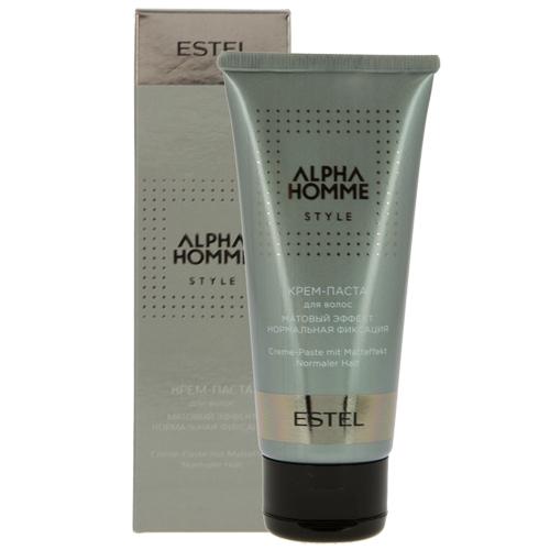 Крем-паста для волос `ESTEL` ALPHA HOMME  100 млСпециальные средства<br>Идеально подходит для создания креативных акцентов и моделирования. Придает матовый эффект.<br>