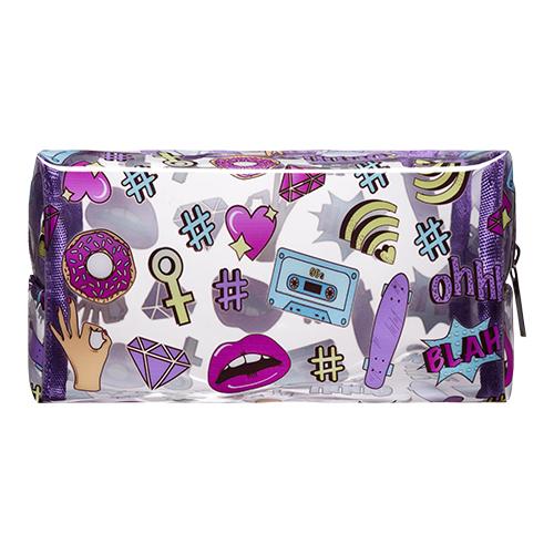 Косметичка `LADY PINK` FUNNY PRINTS фиолетоваяКосметички<br>Косметичка Lady Pink - стильное и удобное решение для хранения косметики. Большой выбор косметичек разных форм и размеров, а также ярких дизайнов позволит легко выбрать ту, которая подходит именно тебе.<br>