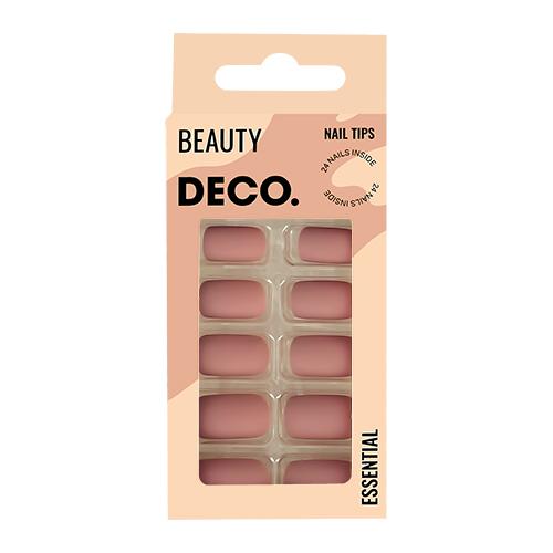 Набор накладных ногтей DECO. ESSENTIAL matt coffee 24 шт + клеевые стикеры 24 шт