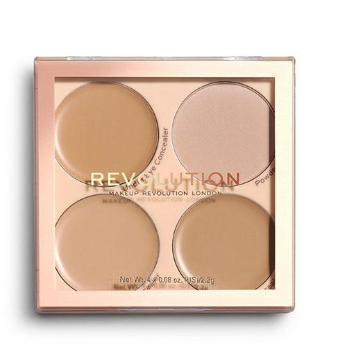 Палетка для макияжа лица: консилеры и фиксирующая пудра REVOLUTION MATTE BASE CONCEALER KIT C5-8