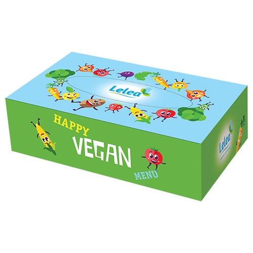 Салфетки бумажные LELEA Happy vegan 2-х слойные 100 шт