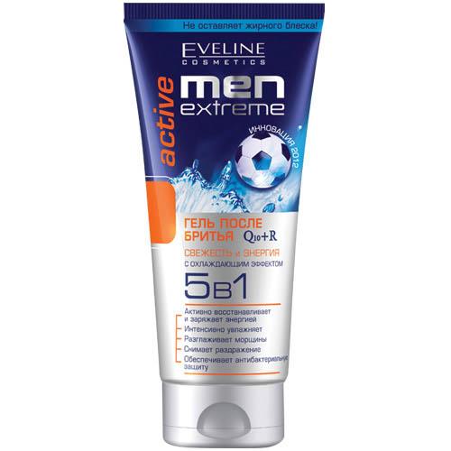 Гель после бритья EVELINE MEN EXTREME ACTIVE 5 в 1 с охлаждающим эффектом 200 мл