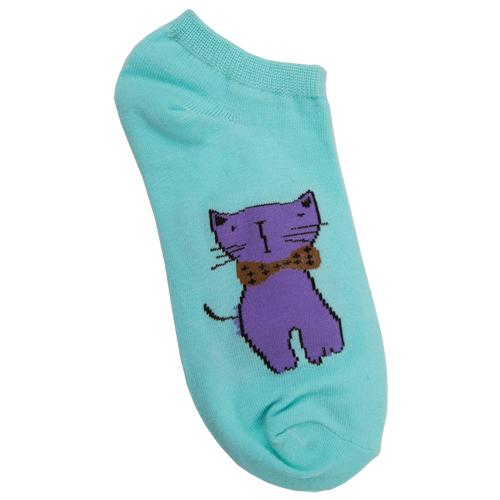 Носки женские `SOCKS` Kitty azure р-р единыйГольфы и носки<br>Носки женские Kitty Azure р-р единый<br>