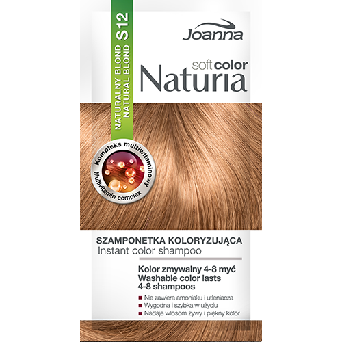 Оттеночный шампунь для волос JOANNA NATURIA SOFT тон 12 Натуральный блонд