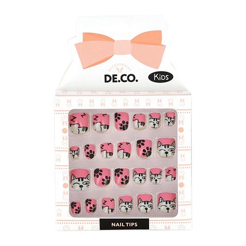 Набор детских накладных ногтей DE.CO. KIDS самоклеящиеся Cats 24 шт