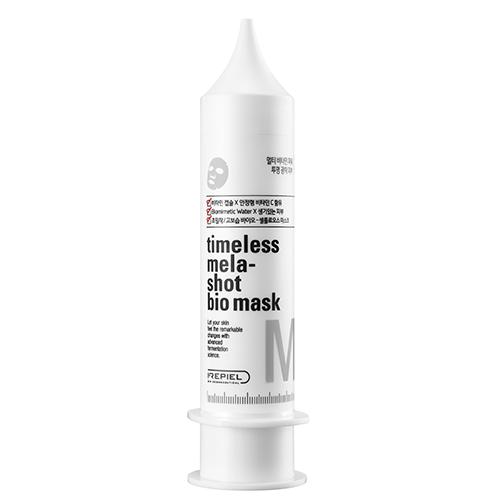 Маска для лица `REPIEL` TIMELESS MASK для жирной кожи 25 млМаски<br>Маска для поддержания здорового баланса витамина B3, меланина и витамина C в коже. Разработана для молодой кожи, склонной к жирному блеску на лице. Хорошо прилегающий био-целлюлозный лист полностью принимает форму лица, что еще более усиливает эффект проникновения увлажняющих компонентов в кожу.<br>