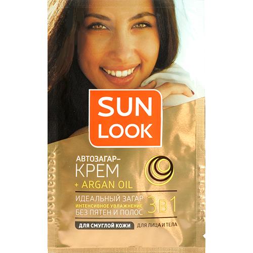 Купить Крем-автозагар для лица и тела SUN LOOK 3 в 1 для смуглой кожи 15 мл, ПОЛЬША/ POLAND