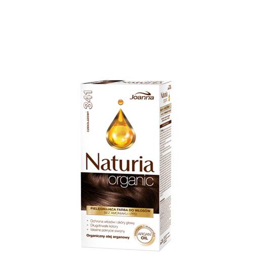 Краска для волос `JOANNA` NATURIA ORGANIC шоколадный (тон 341)Окрашивание<br>В красках Naturia Organic были исключены высоко раздражающие субстанции, такие, как аммиак и п-Фенилендиамин. Рецептуры содержат химические субстанции в наименьших возможных пропорциях, чтобы минимализировать риск повреждения волос и появление раздражения. <br>Аппликационные исследования подтвердили, что окрашивание волос краской Naturia Organic делает их более увлажненными, ухоженными и исключительно блестящими. Идеально закрашивает седые волосы. Рецептура была обогащена аргановым маслом, которое дополнительно защищает волосы и кожу головы во время окрашивания.<br>