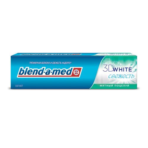 Паста зубная BLEND-A-MED 3D WHITE СВЕЖЕСТЬ Мятный поцелуй 100 мл