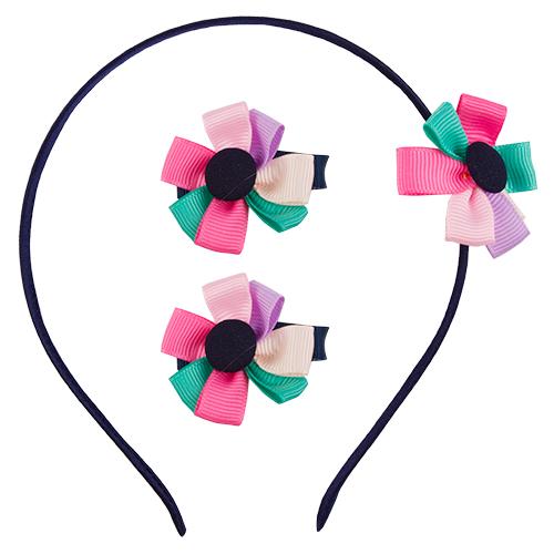 Набок (ободок, заколки) `MISS PINKY`Наборы<br>Набок (ободок, заколки)<br>