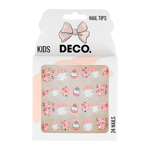 Набор детских накладных ногтей DE.CO. KIDS самоклеящиеся sweet 24 шт
