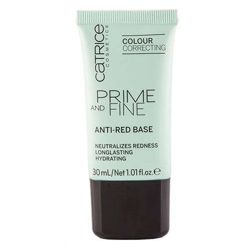 Основа под макияж `CATRICE` PRIME AND FINE ANTI-RED от покрасненийТональные средства<br>Мягкий праймер Anti-Red Base нейтрализует<br>покраснения и мелкие несовершенства кожи, а<br>также расширенные поры и мелкие морщинки.<br>В состав средства входят деликатные<br>светоотражающие пигменты. Можно<br>использовать как самостоятельно, так и в<br>качестве основы под макияж. Не содержит<br>масел. Одобрено дерматологами.<br>