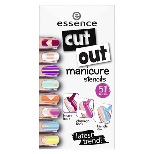 Трафареты для маникюра `ESSENCE` CUT OUT MANICURE STRENCILS
