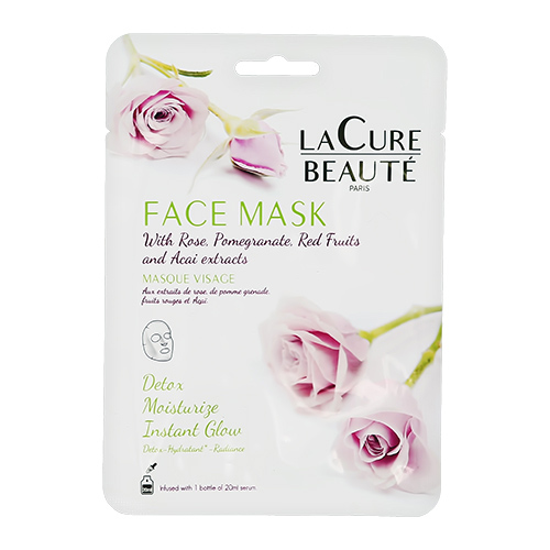 Маска для лица `LA CURE BEAUTE` для увлажнения и сияния кожи 20 мл