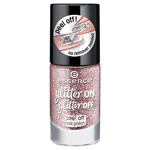 Лак для ногтей `ESSENCE` GLITTER ON GLITTER OFF тон 02 8 мл