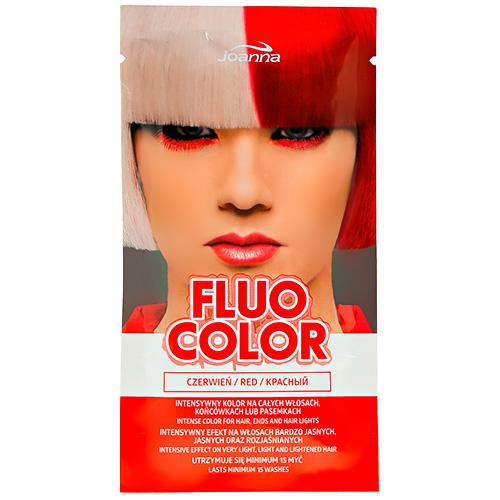 Оттеночный шампунь для волос JOANNA FLUO COLOR тон красный 35 г