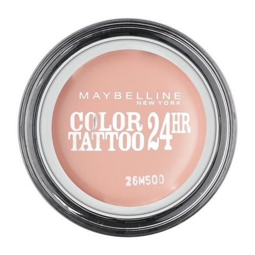 Тени для век `MAYBELLINE` COLOR TATTOO 24 HR кремообразные матовые тон 91 (розовый зефир)Тени<br>Технология тату-пигментов создает яркий, супернасыщенный цвет. Крем-гелевая текстура обеспечивает ультралегкое нанесение и стойкость на 24 часа.<br>
