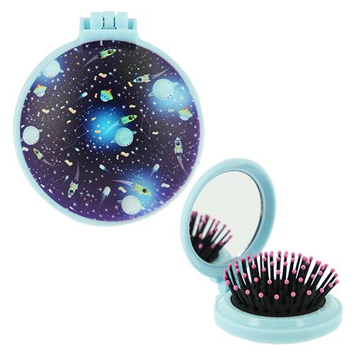 Купить Расческа для волос LADY PINK GALAXY с зеркалом черная, КИТАЙ/ CHINA