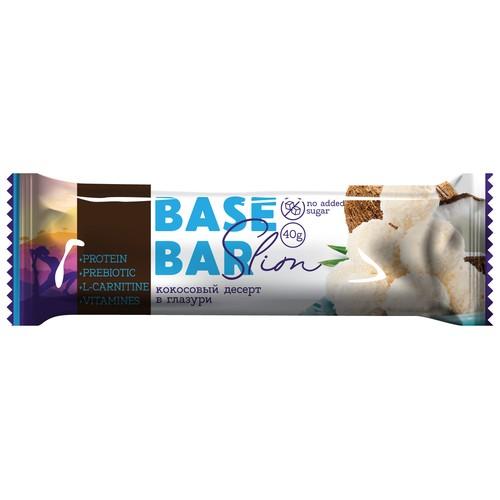 Батончик глазированный BASE BAR SLIM кокос 40 г