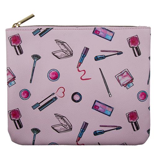Косметичка квадратная плоская с принтом LADY PINK COSMETICS розоваяКосметички<br>Косметичка Lady Pink - стильное и удобное решение для хранения косметики. Большой выбор косметичек разных форм и размеров, а также ярких дизайнов позволит легко выбрать ту, которая подходит именно тебе.<br>