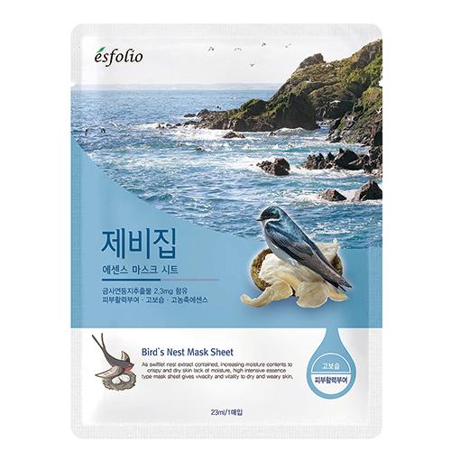 Маска для лица `ESFOLIO` с экстрактом гнезда ласточки 23 млМаски<br>Экстракт гнезда ласточки является очень полезным для кожи продуктом. Насыщенный йодом, фосфором, кальцием и другими микроэлементами, он успокаивает и обновляет кожу, обеспечивая кожу полноценным питанием.<br>