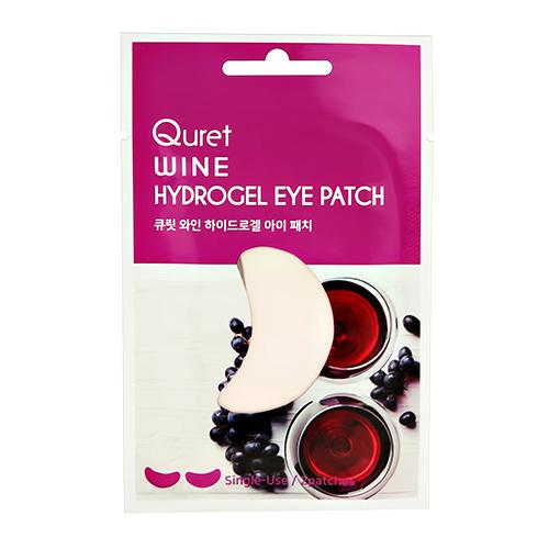 Патчи для глаз QURET гидрогелевые с экстрактом вина 2 шт