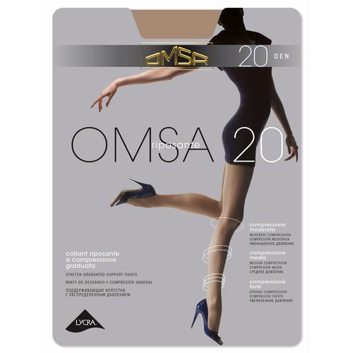 Колготки женские OMSA 20 den (Daino) р-р 5Колготки<br>Тонкие эластичные поддерживающие колготки 20 DEN с распределенным давлением по ноге, корректирующими штанишками с  комфортными швами и гигиеничной ластовицей.<br>