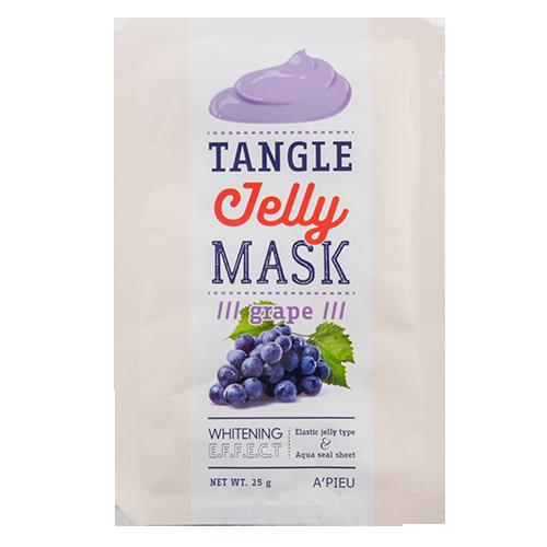 Маска-желе для лица `A`PIEU` Виноград (с отбеливающим эффектом) 25 грМаски<br>Желейная маска для лица Виноград  создана для ухода за уставшей  и тусклой кожей. В состав маски входит экстракт винограда, который известен своими антиоксидантными, увлажняющими, тонизирующими, омолаживающими и защитными свойствами.<br>- Маска обладает увлажняющими, тонизирующими и питающими кожу свойствами, повышает эластичность кожи, придает сияние.<br>-Желейная текстура маски способствует более эффективному проникновению питательных веществ из маски в кожу.<br>