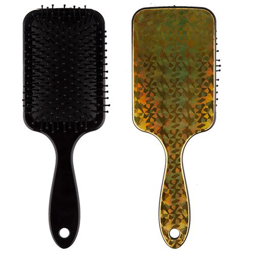 Расческа для волос `LADY PINK` HOLOGRAPHIC goldЩетки массажные<br>Массажная щетка Lady Pink подходит для расчесывания волос любой длины. Обеспечивает деликатный массаж кожи головы, улучшает микроциркуляцию.<br>