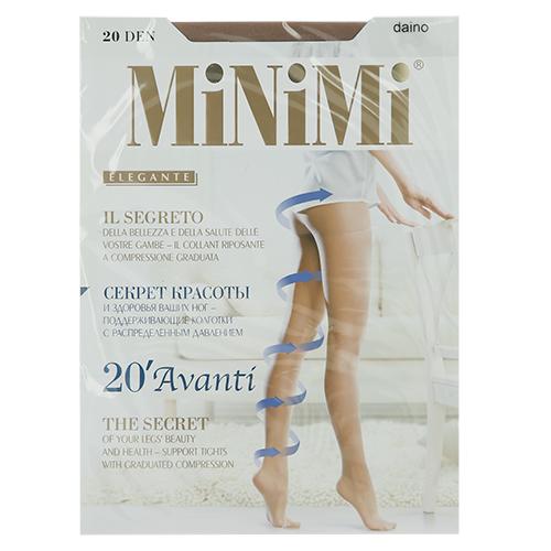 Колготки женские `MINIMI` AVANTI 20 den (Daino) р-р 4Колготки<br>Тонкие эластичные поддерживающие колготки с распределенным давлением по ноге, гигиеничной ластовицей, плоским швом и невидимым усиленным мыском. Формованная ступня.<br>